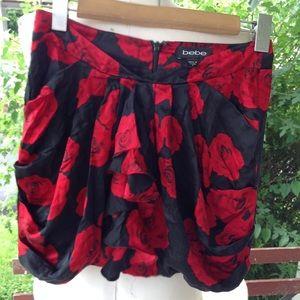 Bebe silk skirt.